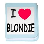 I heart blondie baby blanket