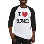 I heart blondie Baseball Jersey