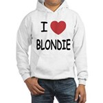 I heart blondie Hooded Sweatshirt