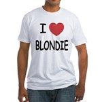 I heart blondie Fitted T-Shirt