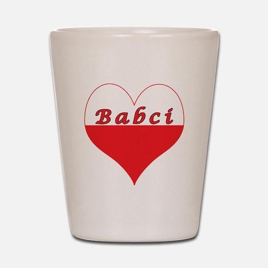 Babci Polish Heart Shot Glass