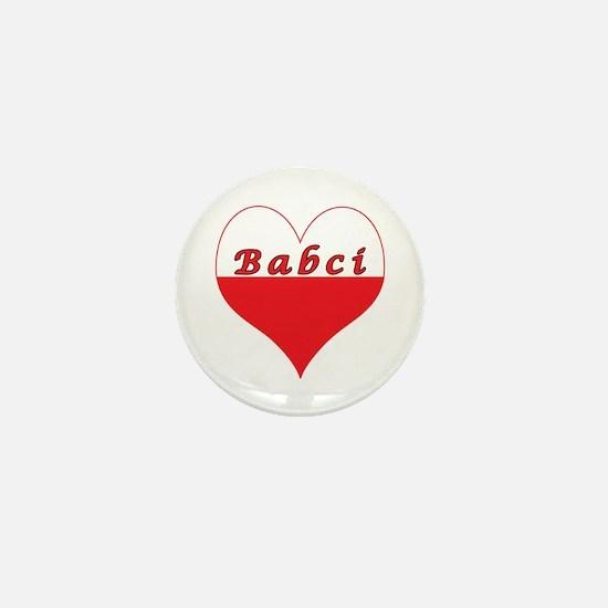 Babci Polish Heart Mini Button