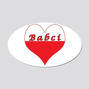 Babci Polish Heart 22x14 Oval Wall Peel