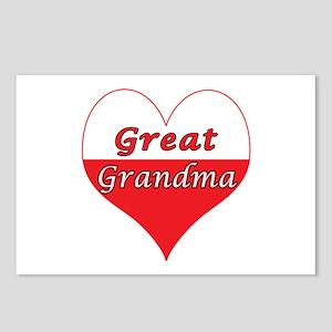 Great Grandma Polish Heart Postcards (Package of 8