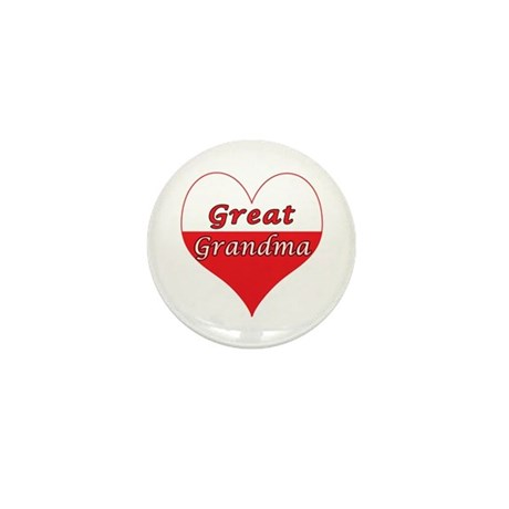 Great Grandma Polish Heart Mini Button (10 pack)