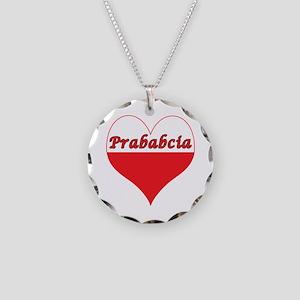 Prababcia Polish Heart Necklace Circle Charm