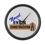 Novel Under Construction Large Wall Clock