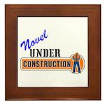 Novel Under Construction Framed Tile