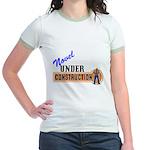 Novel Under Construction Jr. Ringer T-Shirt