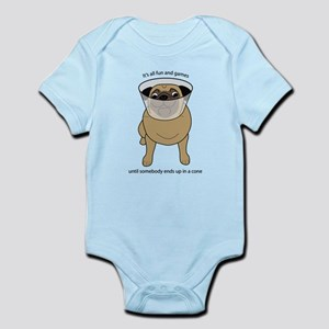 Conehead Fawn Pug Infant Bodysuit