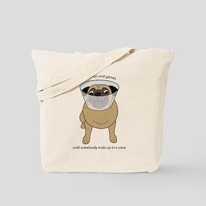 Conehead Fawn Pug Tote Bag