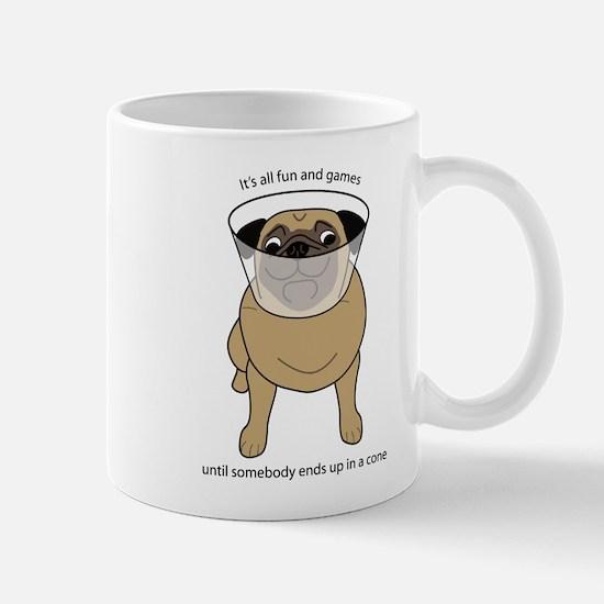 Conehead Fawn Pug Mug