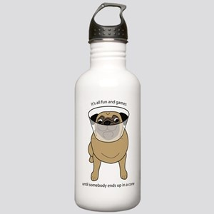 Conehead Fawn Pug Stainless Water Bottle 1.0L