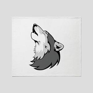 Wolf design Throw Blanket