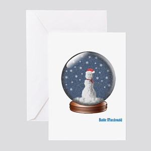 Snowman in a Globe Greeting Cards (Pk of 20)