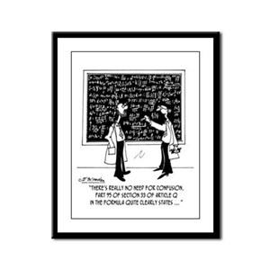 No Need For Confusion Framed Panel Print
