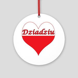 Dziadziu Polish Heart Ornament (Round)