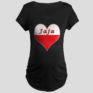 Jaja Polish Heart Maternity Dark T-Shirt