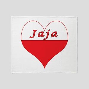 Jaja Polish Heart Throw Blanket