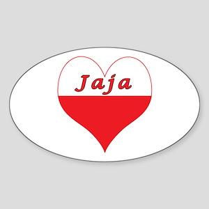 Jaja Polish Heart Sticker (Oval)