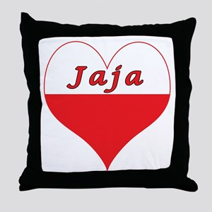 Jaja Polish Heart Throw Pillow