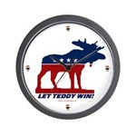 Bull Moose Let Teddy Win Clock