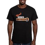 Novel Under Construction Men's Fitted T-Shirt (dar
