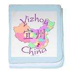 Yizhou China Map baby blanket