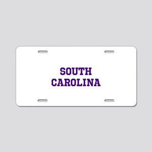 Blue South Carolina Aluminum License Plate