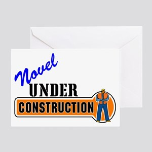 Novel Under Construction Greeting Card