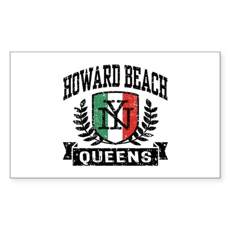 Howard Beach Queens Italian Sticker (Rectangle)