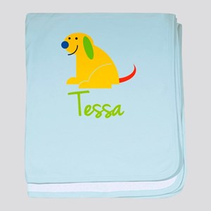 Tessa Loves Puppies baby blanket