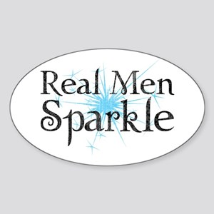 Real Men Sparkle 2 Sticker (Oval)