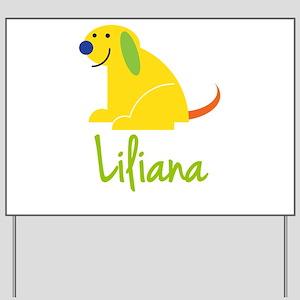 Liliana Loves Puppies Yard Sign