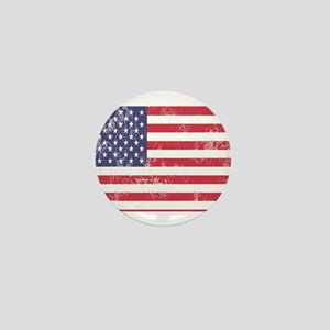Faded American Flag Mini Button