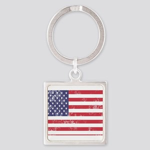 Faded American Flag Keychains