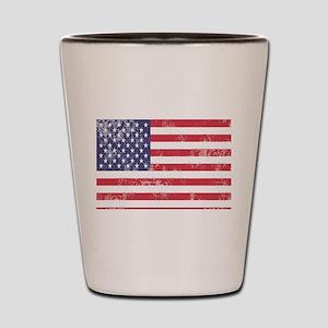 Faded American Flag Shot Glass