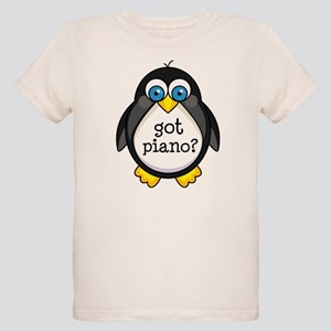 Piano Music Penguin Organic Kids T-Shirt