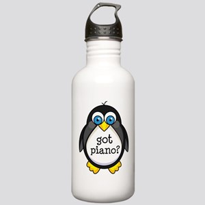 Piano Music Penguin Stainless Water Bottle 1.0L