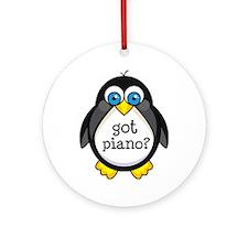 Piano Music Penguin Ornament (Round)