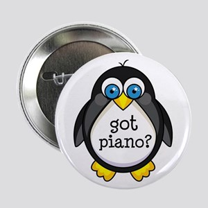 "Piano Music Penguin 2.25"" Button"