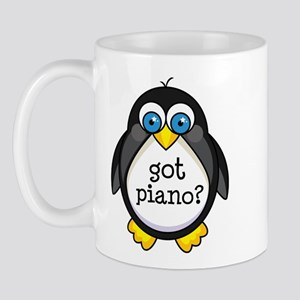 Piano Music Penguin Mug