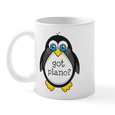 Piano Music Penguin Mug