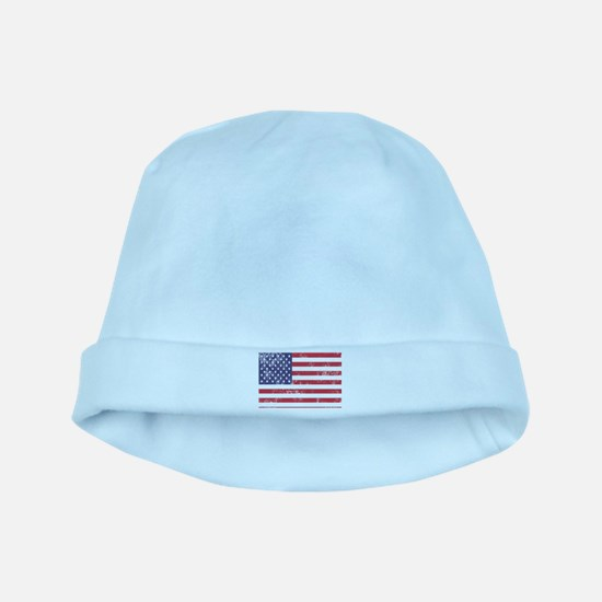 Faded American Flag Baby Hat