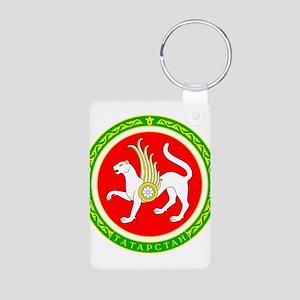 Tatartstan Coat of Arms Aluminum Photo Keychain