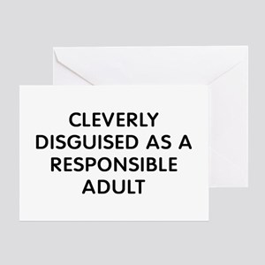 Cleverly Disguised Greeting Card