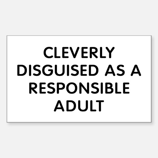 Cleverly Disguised Sticker (Rectangle)