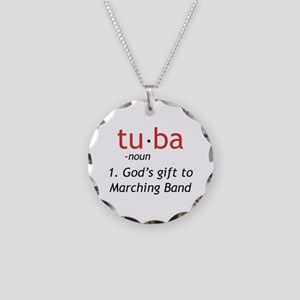 Tuba Definition Necklace Circle Charm