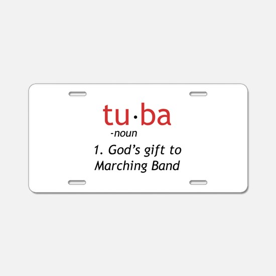Tuba Definition Aluminum License Plate