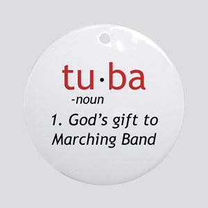 Tuba Definition Ornament (Round)